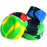 Swirl Marble Pack of 4 Nonstick Silicone Oil Wax Concentrate Container Jar Vial Screw Top