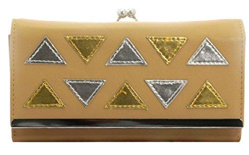 Girly HandBags Nachahmung-Leder-Mosaik-Fliesen-Design Ball Schließe Geldbörse Elegantes Metallrahmen Khaki ffhPUcvh