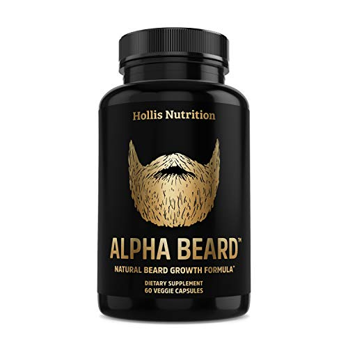 ALPHA BEARD Beard & Hair Growth Vitamins for Men - Beard Growth Supplement with Biotin, Collagen,...