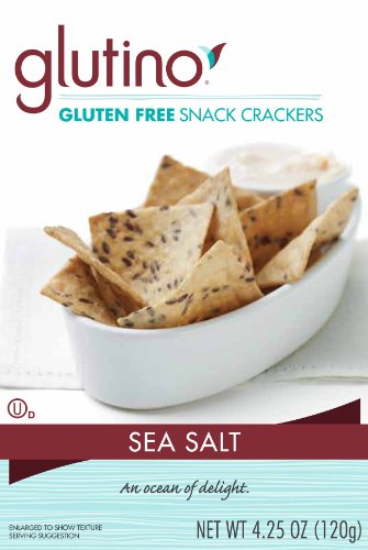Glutino Gluten Free Wholesome Crackers, Sea Salt, 4.25 Ounce (Pack of 6)