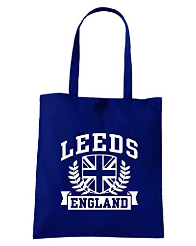 LEEDS ENGLAND Navy Blu Shirt TSTEM0106 Shopper Borsa Speed wYvf8x