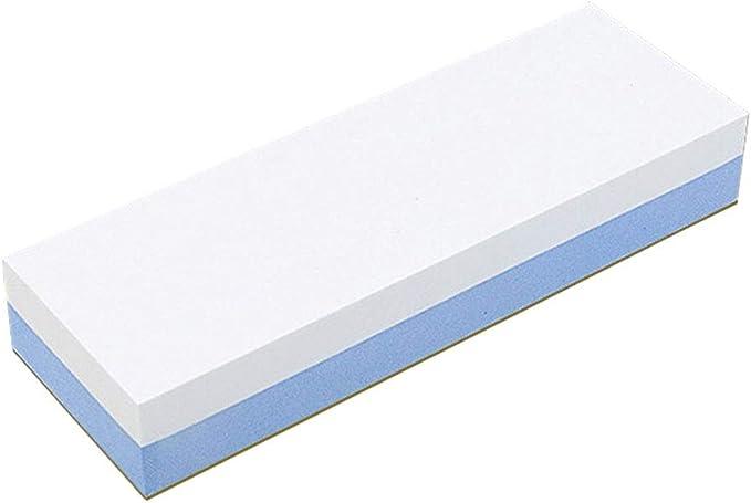 Piedra de afilar de doble cara corind/ón blanco con herramienta antideslizante 600-1500