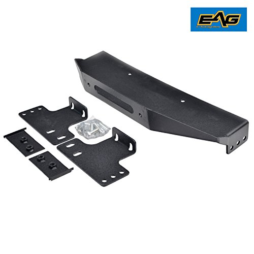 EAG 07-18 Jeep Wrangler JK Raised Winch Mounting Plate for OE Factory Bumper