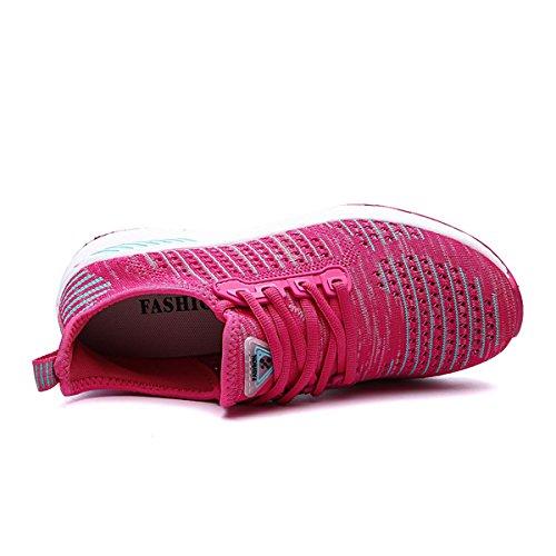 Fitness Mesh Schnürer Bequem 48 ZanYeing Sportschuhe Pink Unisex Freizeitschuhe Ultra Light Gym Turnschuhe Laufschuhe 36 Atmungsaktives 15IEqYqw