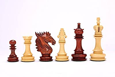 Chessbazaar The Dragon Knight Series Chess Pieces Carved In Bud Rose / Box Wood
