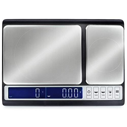 Smart Weigh Culinary Kitchen Scale 10kg x 0.01g, Digital Food Scale with Dual Weight Platforms for Baking, Cooking, Food, and Ingredients