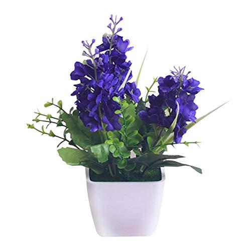 Artificial Hyacinth Flower, Cherry-Lee Artificial Flower Fake Plants for Indoor Outdoor Home Kitchen Office Garden Party Wedding Bridal Bouquet Table Centerpieces Arrangements Decor