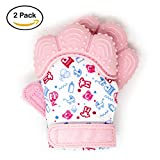 My Mini Mitt | Teething Mitten (2-Pack) | Soothing Gum Relief Toy Glove & Teether for Babies,...