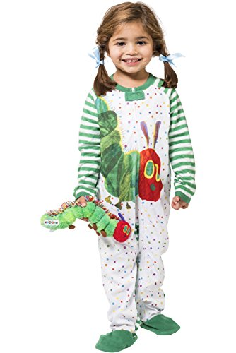 Eric Carle Baby Infant The Very Hungry Caterpillar Book Fleece Cozy Footie Onesie Pajama, White, 4T