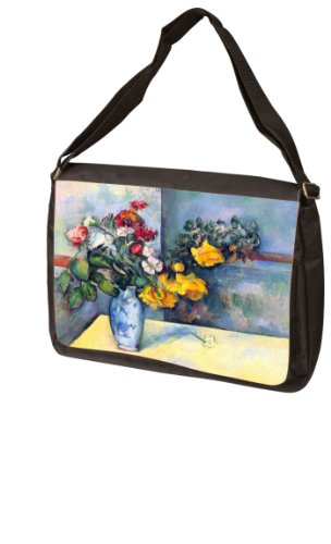 Still lifes flowers in a vase By Paul Cezanne Laptop Bag - Messenger Bag - Shoulder Bag