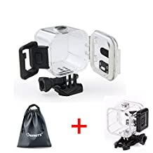 Oumers 45M Waterproof Housing for GoPro Hero4 Session, Replacement Waterproof Case Cover, Protective Case, 45m Underwater Diving Swimming, For Go Pro hero 4 Session Only