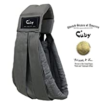 Cuby Cotton Baby Slings and Wraps Carrier for Newborns and Breastfeeding (Grey)