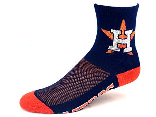 - For Bare Feet Houston Astros Navy Quarter Socks Orange Flex Top - Size Medium