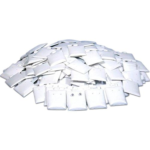 200 Earring Puff Display Pads White Stud Post