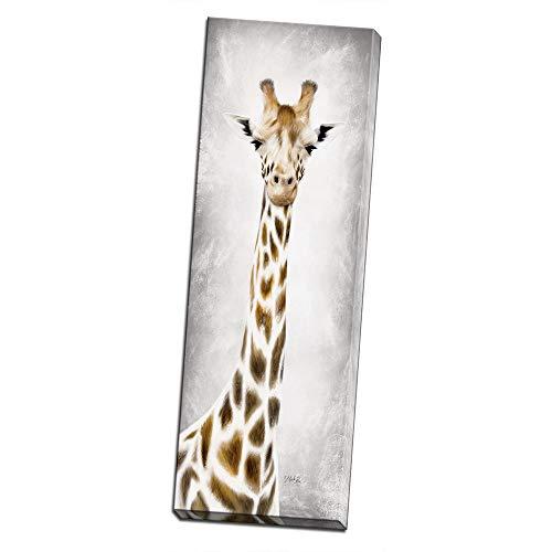 Geri The Giraffe Printed on 8x24 Canvas Wall Art by Pennylane