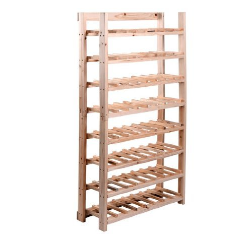 HomCom Classic Rustic Wood 8-Tier 120-Bottle Wooden Wine Rack (Wine Rack 120 compare prices)