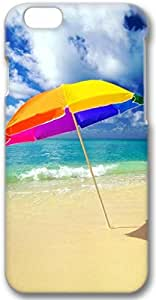 Beach Umbrella On The Beach Apple iPhone 6 Case, 3D iPhone 6 Cases Hard Shell Cover Skin Casess