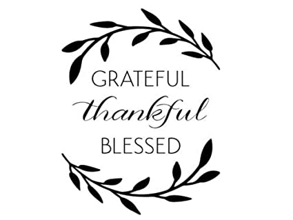 amazon com grateful thankful blessed wall art decal quote words