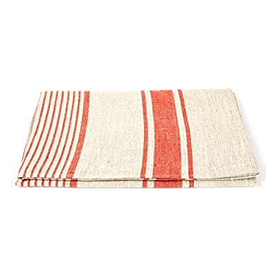 """LinenMe Provence Bath Towel, 39""""X 57"""", Red - The size of towel is good enough to wrap yourself when you go out from you bathroom, when you sit in sauna or take sun bath at the beach. Linen has the ability to absorb moisture better than cotton and will dry more quickly. With a sensual touch and soft absorbency this will last for years Bath towel has a loop, size: 39X 57, color: Red, also available 4 colors, machine washable Produced in europe from 100Percent linen - bathroom-linens, bathroom, bath-towels - 41O jLTBfHL. SS400  -"""