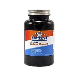 Elmer\'s No-Wrinkle Rubber Cement, 8 oz