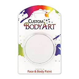 Custom Body Art LARGE 18ml Face Paint Color Single Colors 1-each (White) - Great for Parties, Halloween & Birthdays