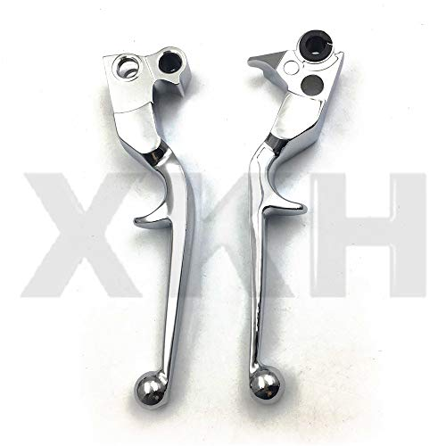 XKH Group Motorcycle New Chrome Brake Clutch Lever For Harley Custom Flhr Road King Ultra And Touring new