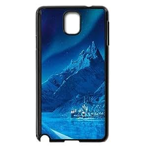 Samsung Galaxy Note 3 Cell Phone Case Black Elsa Frozen Castle Queen Disney Illust Snow Art VIU063192