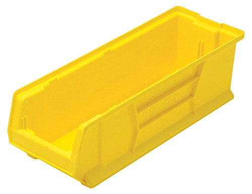 (Quantum QUS950 Plastic Storage Stacking Hulk Container, 24-Inch by 8-Inch by 7-Inch, Yellow, Case of 6)