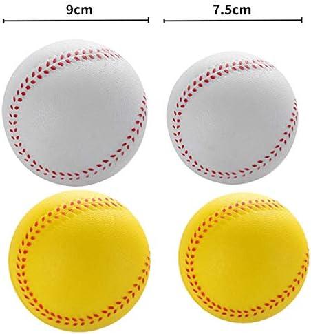 Fauge 1 Pcs New Universal Baseball Baseballs PVC Sup/éRieures et Douces Balles de Baseball Ballon de Balle de Softball Exercice de Formation Balles de Baseball Dia 7.5Cm Blanc