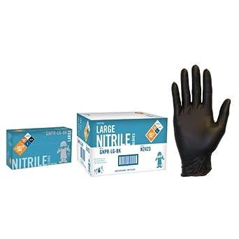 Safety Zone GNPR-XL-BK Guante est/ándar color negro texturizado, sin polvo, talla XL, nitrilo, 1000 unidades