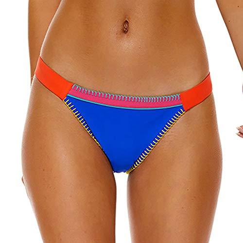 Banana Moon Fresia TEKNICOLOR, Bikini Bottom Classic Pant, Blue, Size: 42 (Banana Moon Swimwear)