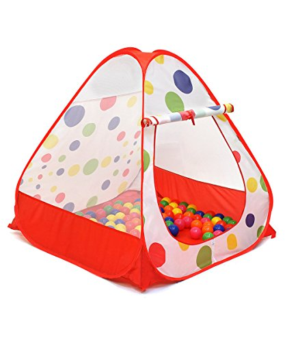 Young Kids Portable Folding Red Twist Play Tent, Indoor and Outdoor Kid Playhouse Tent, Easy to Setup, Safe and Sturdy - @ Liveweller