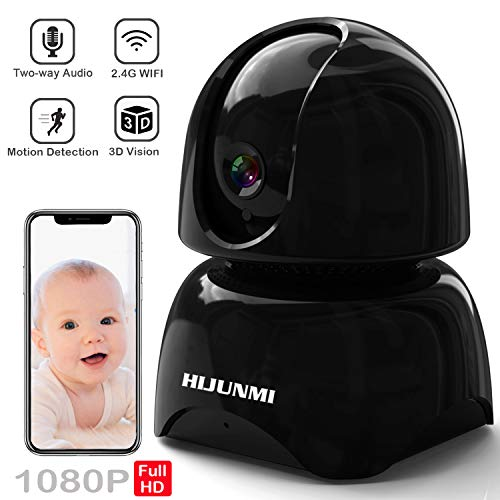 WiFi Security Camera 1080P,Wireless IP Pan/Tilt/Zoom Cam,Home Surveillance Dome Cameras,Two-Way Audio,Motion Detection