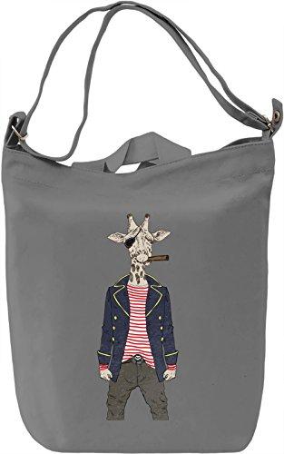 Pirate Giraffe Borsa Giornaliera Canvas Canvas Day Bag| 100% Premium Cotton Canvas| DTG Printing|