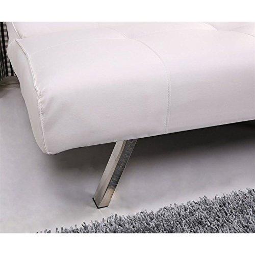 Marvelous Gold Sparrow Jacksonville White Foldable Futon Sofa Bed Spiritservingveterans Wood Chair Design Ideas Spiritservingveteransorg