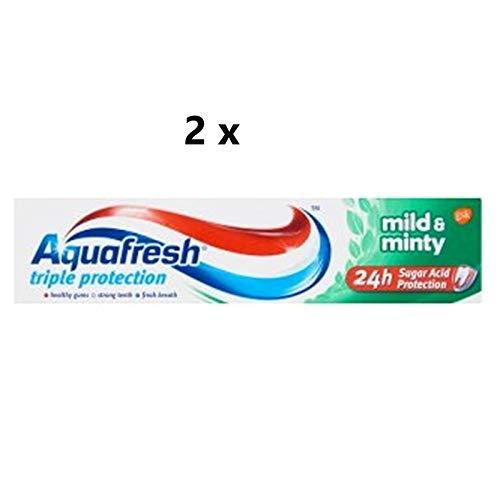 2 Count x Aquafresh Triple Protection Mild & Minty Toothpaste 100ml
