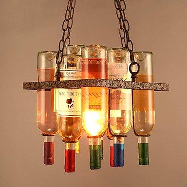 Iluminación colgante,Vintage creativo Loft Industrial en frascos de vidrio de las lámparas colgantes Salón