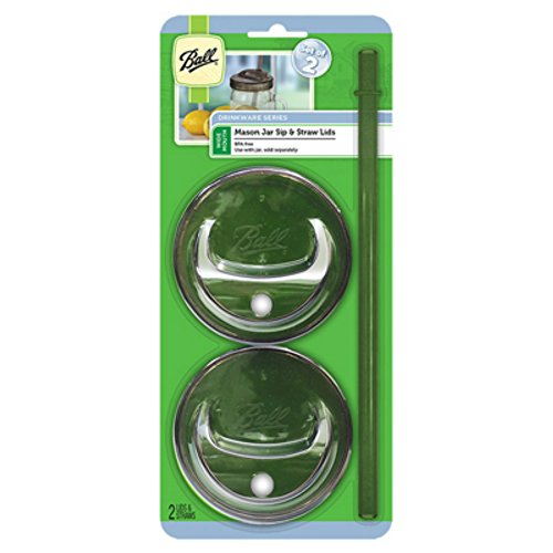 Ball 1440015015 Mason Jar Sip & Straw Lids, 6 Count (Pack Of 6)