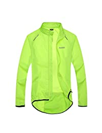Santic Men's Windproof UV Protection Cycling Jacket Long Sleeve Wind Coat Blue