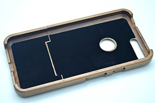 Holzsammlung® Gooogle Pixel XL Funda de Madera - Madera de nogal - Natural Hecha a mano de Bambú / Madera Carcasa Case Cover Madera de nogal