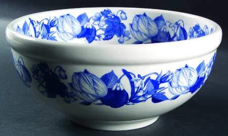 Portmeirion Harvest Blue Pasta Serving Bowl 10 3/8