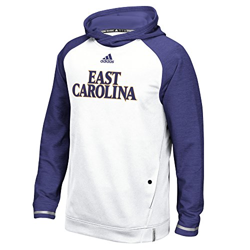(NCAA East Carolina Pirates Men's Sideline Climalite Player Hoodie, X-Large, White)