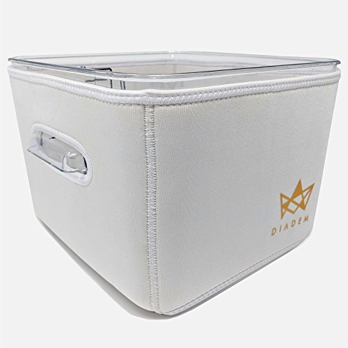 IMPROVED Sous Vide Container Neoprene Sleeve For Rubbermaid 12 Quart-Protect Your Work Surface–Reduce Cooking Time and Save Electricity From Increased Insulation-Foldable & Easy To Clean–By DIADEM by Diadem Home