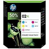 HP 02XL Ink Cartridge - Inkjet - Combo Value Pack - Cyan/Magenta/Yellow/Light Cyan/Light Magenta