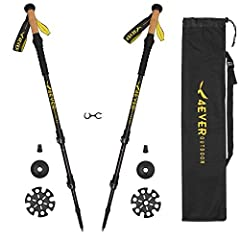 Best Collapsible Ultralight 3K Carbon Hiking Poles Walking Stick with Quick Lock, Cork, Tips, Bag and Accessories - Adjustable Lightweight Hiking Sticks 1 Pair 2 Pack SPECIFICATIONActivity: Mountain Climbing, Cross Country, Backcountry, Hunti...