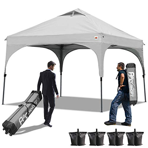 ABCCANOPY 30+Colors Pop up Canopy Commercial Instant Canopy Kit Ez Pop up Canopy,Bonus Carrying Bag (Beach Canopy Gray) For Sale