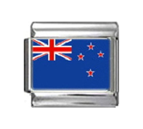 Stylysh Charms New Zealand Kiwi Flag Photo Italian 9mm Link - Italian Charm New Photo 9mm