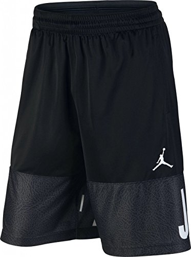 (NIKE Jordan Air Youth Boys Colorblocked Basketball Shorts, Black, X-Large (13-15yrs))