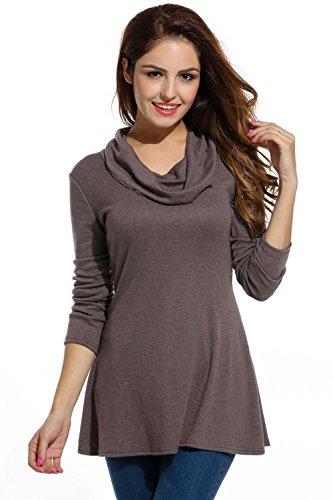 Bluetime - Camisas - Túnica - Cuello redondo - para mujer marrón