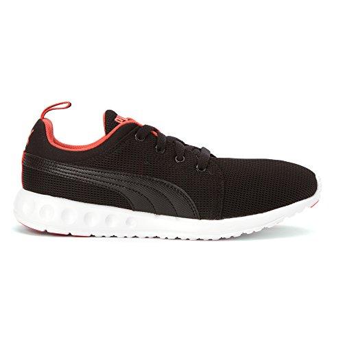 PUMA Women's Carson Runner Fashion Sneaker, Black/Hot Coral, 10.5 B US